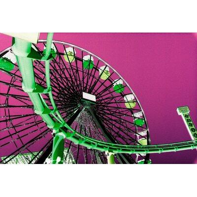 Fluorescent Palace Fluorescent Ferris Wheel Graphic Art on Canvas