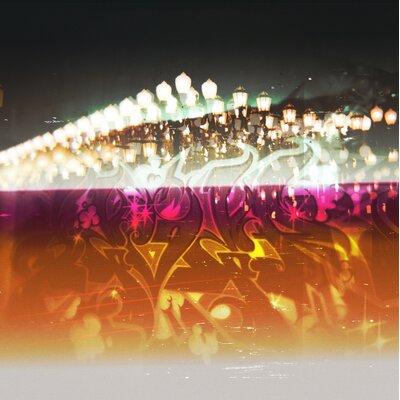 Fluorescent Palace Adrenachrome Graphic Art on Canvas
