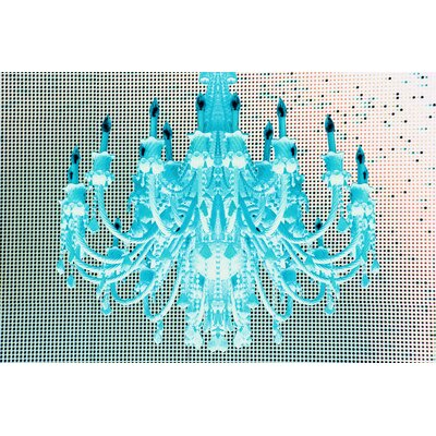 Fluorescent Palace Paparazzi Playhouse Graphic Art on Canvas in Blue