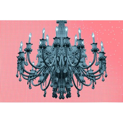 Fluorescent Palace Paparazzi Playhouse Graphic Art on Canvas in Rose Pastel