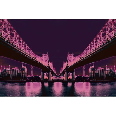 Fluorescent Palace Night Vision Neon Mix Graphic Art on Canvas