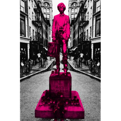 Fluorescent Palace Warhol Monument NYC Graphic Art on Canvas