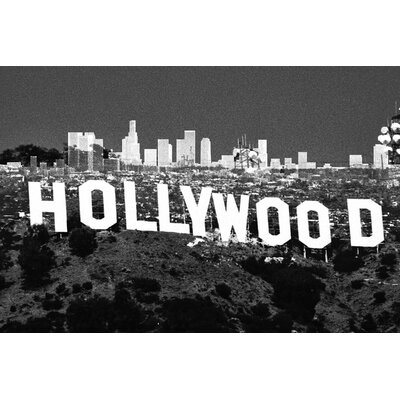 Fluorescent Palace Hollywoodland Graphic Art on Canvas in White