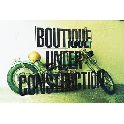 Fluorescent Palace Motorbike Boutique Graphic Art on Canvas