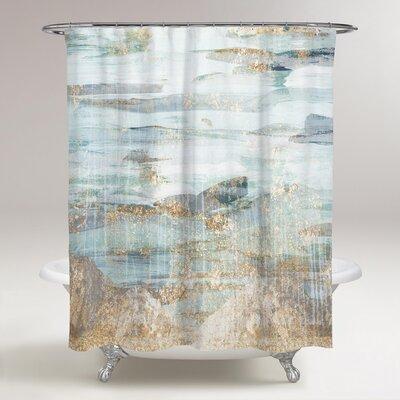 Celine Love in Teal Shower Curtain