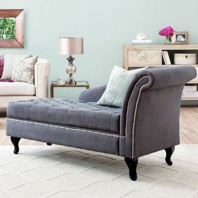 Hugo Chaise Lounge Upholstery: Grey