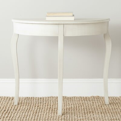 Tussilage Console Table Color: Antique White