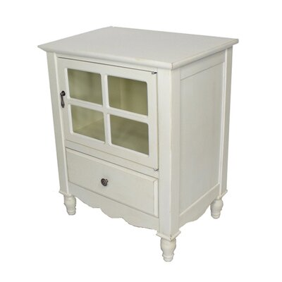 Couronne 1 Drawer Accent Cabinet Color: Antique White