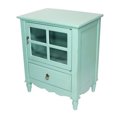Couronne 1 Drawer Accent Cabinet Color: Turquoise