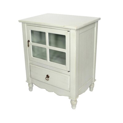 Couronne 1 Drawer Accent Cabinet Color: Washed Sage