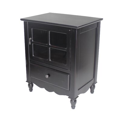 Couronne 1 Drawer Accent Cabinet Color: Black