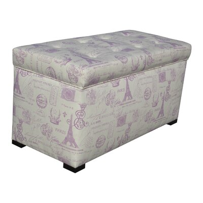 Pavot Upholstered Storage Bench Color: French Grape