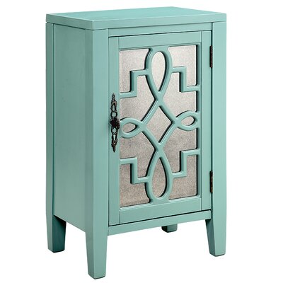 Bardane 1 DoorAccent Cabinet Color: Turquoise