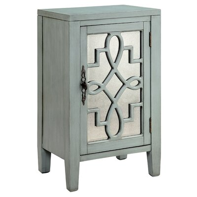 Bardane 1 DoorAccent Cabinet Color: Blue