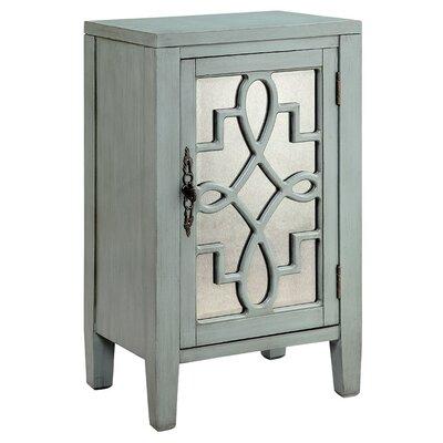 Bardane 1 DoorAccent Cabinet Color: Blue