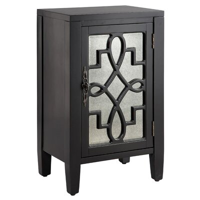 Bardane 1 DoorAccent Cabinet Color: Black