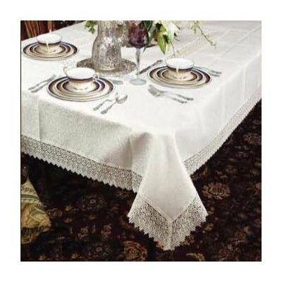 "Alienor Rectangular Lace Tablecloth Color: White, Size: 84"" W x 60"" D"