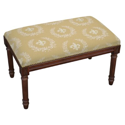 Clematite Upholstered and Wood Bench
