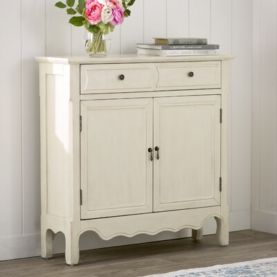 Mauzy 2 Drawer 2 Door Accent Cabinet Color: Antique Ivory