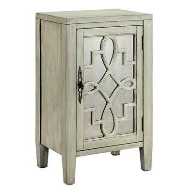 Bardane 1 DoorAccent Cabinet Color: Creamy Gray