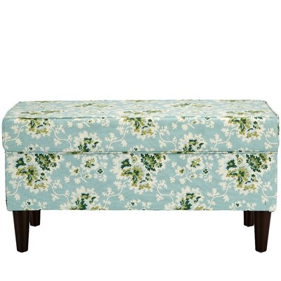 Barbour Cotton Upholstered Storage Bench Color: Sea Green