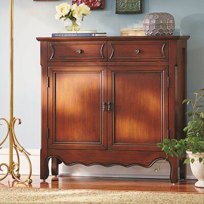 Mauzy 2 Drawer 2 Door Accent Cabinet Color: Warm Brown