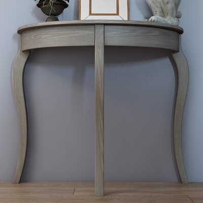 Tussilage Console Table Color: French Gray