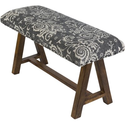 Carlea Upholstered Bench Upholstery: Black