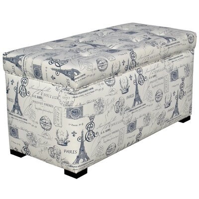 Pavot Upholstered Storage Bench Color: French Blue