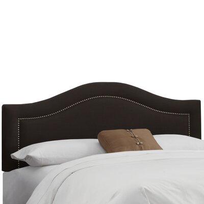 Ophiuchi Upholstered Panel Headboard Size: Full, Upholstery: Linen Black