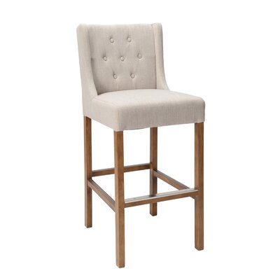 "Sixtine Bar & Counter Stool Upholstery: French Beige, Seat Height: Bar Stool (30"" Seat Height)"