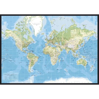 IncadoProductionA/S World Map Graphic Art Wrapped on Canvas