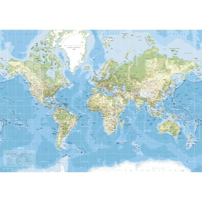 IncadoProductionA/S World Map Graphic Art on Canvas