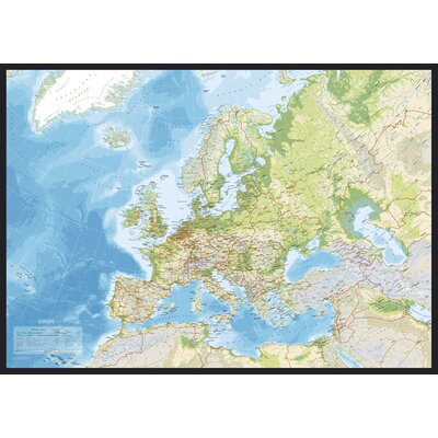 IncadoProductionA/S Euro Map Graphic Art Wrapped on Canvas