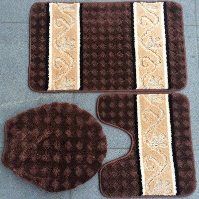 Fryar 3 Piece Bath Mat Set Color: Brown