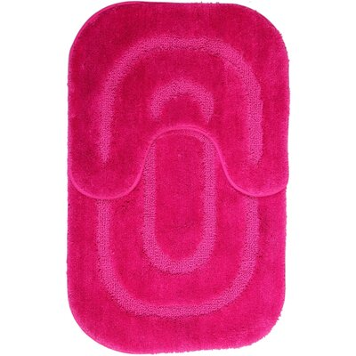 2 Piece Bath Mat Set Color: Hot Pink