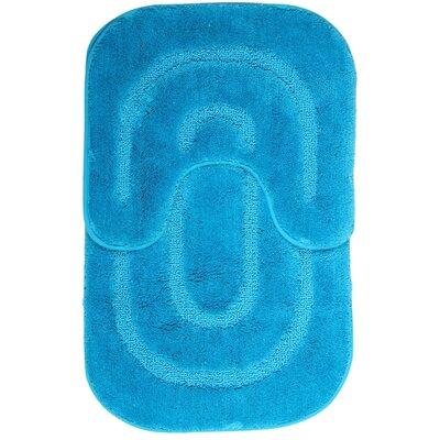 2 Piece Bath Mat Set Color: Turquoise