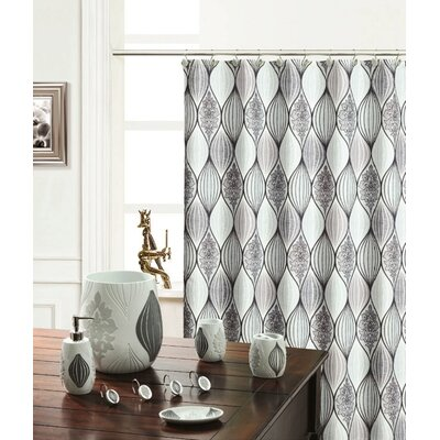 Shower Curtain Color: Silver
