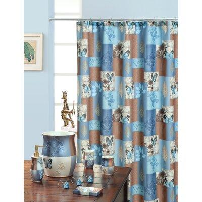 Daniels Bath Shower Curtain Color: Blue