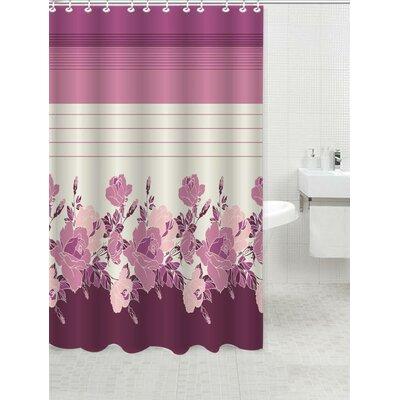 Glasford Shower Curtain Color: Rosanna Rose