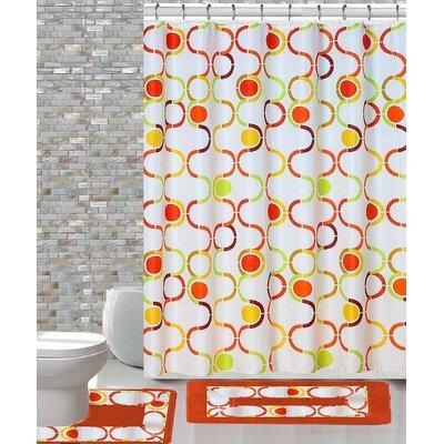 15 Piece Shower Curtain Set Color: Regata