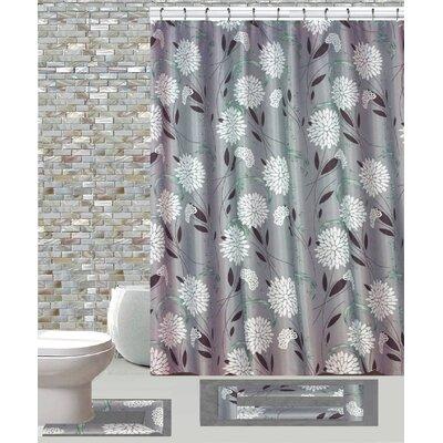 15 Piece Shower Curtain Set Color: Dove