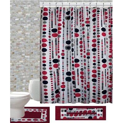 15 Piece Shower Curtain Set Color: Jackie Brugundy