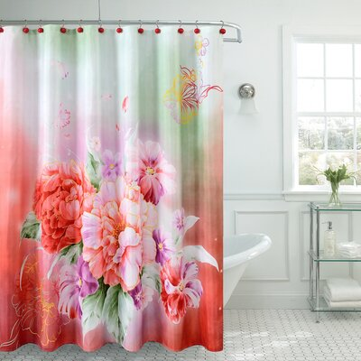 Fancy Carnation Shower Curtain