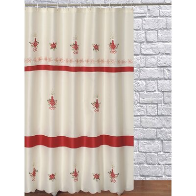 Embroidery Christmas Decorative Shower Curtain