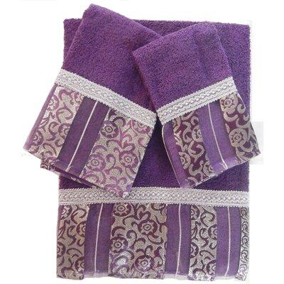 Denis 3 Piece 100% Cotton Towel Set