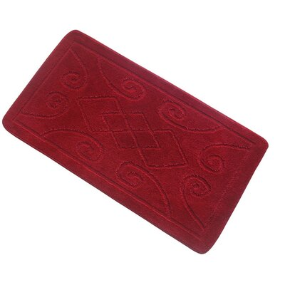 Spartansburg Spa Bath Rug Size: Large, Color: Red