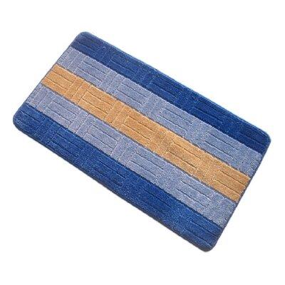 Barbosa Spa Bath Rug Size: 17''W x 24''L, Color: Navy Blue