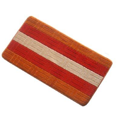 Barbosa Spa Bath Rug Size: 17''W x 24''L, Color: Orange