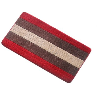 Barbosa Spa Bath Rug Size: 17''W x 24''L, Color: Red